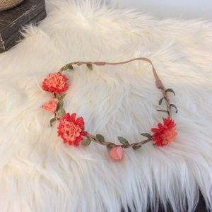Boho floral headband